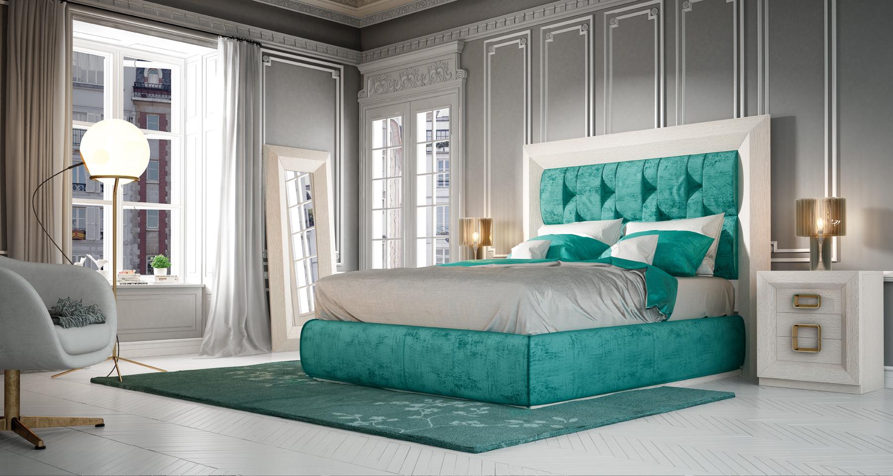 Decoración para evitar el calor. Dormitorio color claro