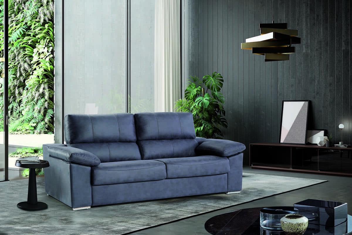 16 – Lleva la comodidad al día a día de tu hogar con este sofá cama que podrás convertir fácilmente según tus necesidades, ofreciendo siempre un resultado optimo en cualquier de sus dos funciones. 206 x 104 x 100 cm; cama 140 x 195 cm.