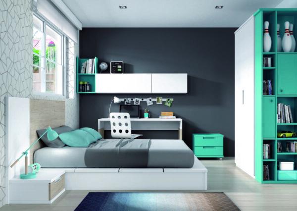 52 – Completo dormitorio juvenil en el que tus hijos disfrutarán cómodamente de su día a día.
