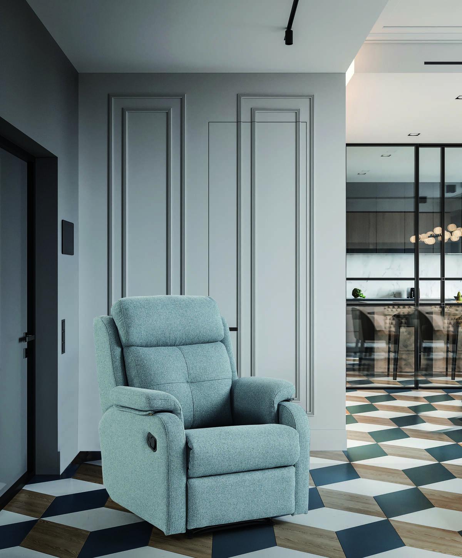 19 – Horas y horas de descanso y relax están aseguradas con este cómodo sillón con sistema relax. 80 x 110 x 92 cm.