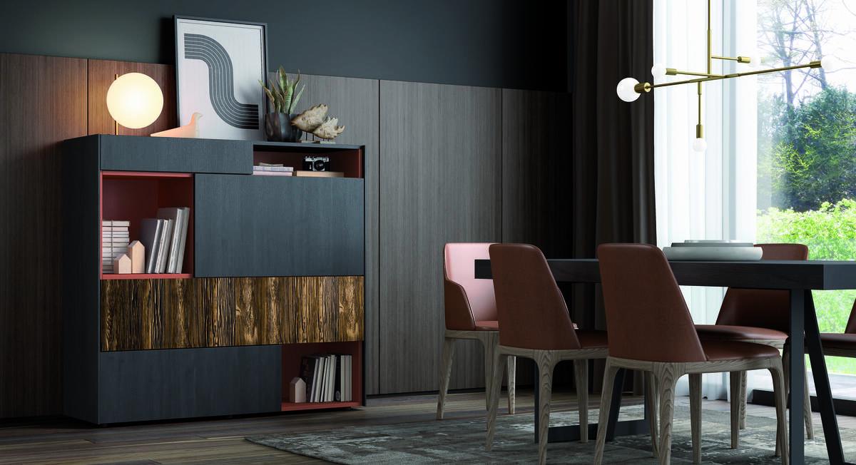 47 – Mantén el orden y gana un amplio espacio de guardado gracias a este aparador acabado en tonos oscuros y líneas rectas. 137 x 130 x 45,2 cm