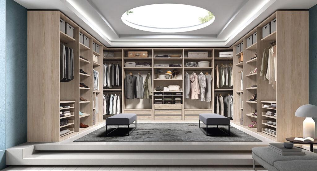 Vestidor con un almacenaje bien aprovechado